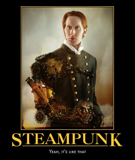 A steampunk personality- GD Falksen, wearing the automotivator-1