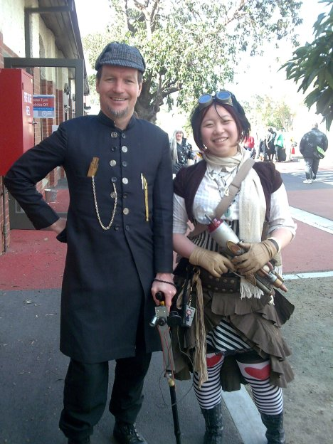 New Steampunk friend Connie and yours truly