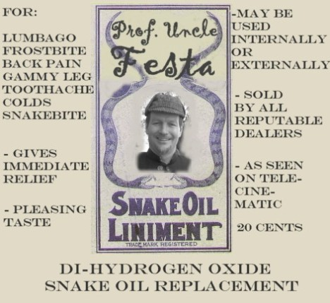 Prof Uncle Festa Snake Oil Label